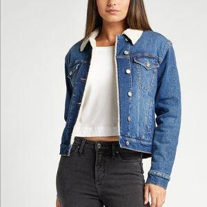 Silver Jeans 'Selena' Shearling Lined Denim Jacket